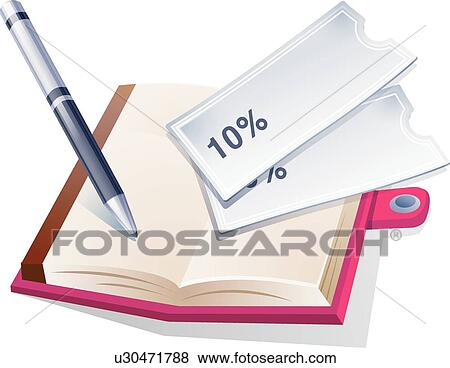 Clip Art of housekeeping book, icons, account book, Discount ...
