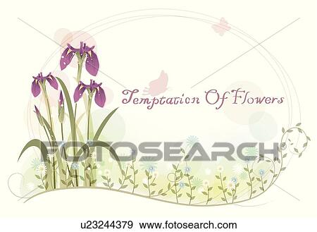 Clip art of background flowers irises iris floral background clip art background flowers irises iris floral background flower template pronofoot35fo Image collections