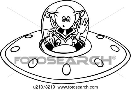 clip art of alien cartoon science fiction spaceship wacky rh fotosearch com spaceship clipart pictures clipart spaceship