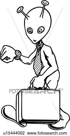剪贴画 - 不同, 公文包, 商人, 卡通漫画, 办公室, 科幻小说, 古怪图片