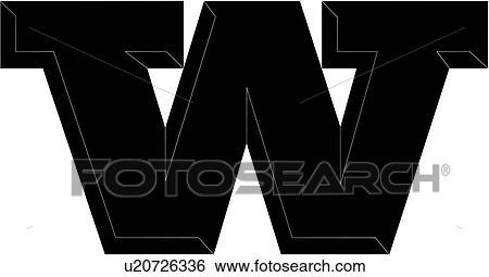 clip art alphabet letter chisel block uppercase capital