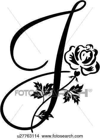 I Karpa Alphabet Capital J Lettered Monogram