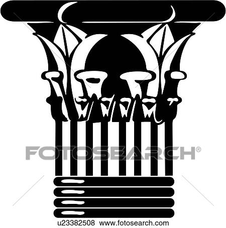 Clipart of , architecture, base, column, greek, ionic, u25826071 ...
