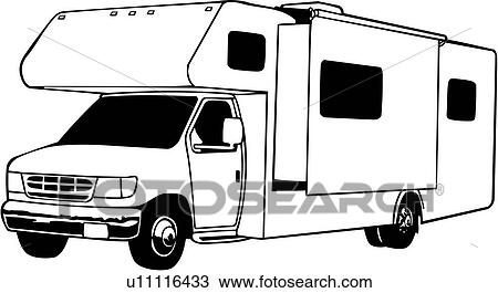 outline drawing of motorhome with U11116433 on  in addition Saint Patricks Day Coloring Pages in addition Vintage Rv Trailer Clipart in addition U11116433 further 9158425035.