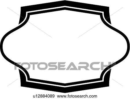 Clip Art of , sign, blank, border, frame, fancy, panel ...