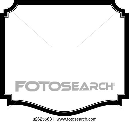 Clipart of , sign, basic, blank, border, shield, panel, shapes ...