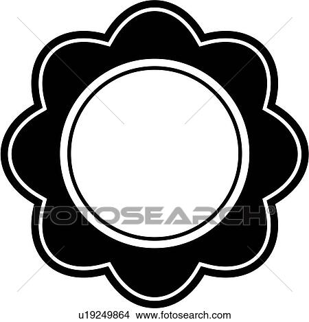 Clipart of , blank, border, circle, contemporary, fancy, floral ...
