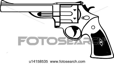 Western Six Shooters Drawing Gun Revolver Six Shooter