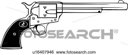 Western Six Shooters Drawing Six Shooter Weapon