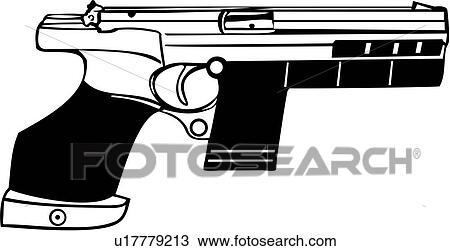 Clipart of , gun, hammerhill target pistol, weapon, u17779213 ...