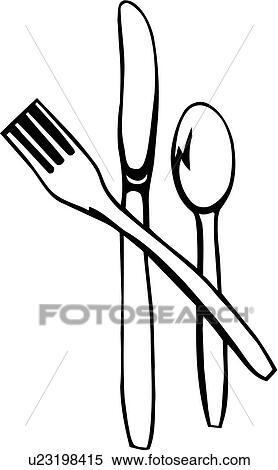 clipart essen gabel kueche messer besteck l ffel utensils u23198415 suche clip art. Black Bedroom Furniture Sets. Home Design Ideas