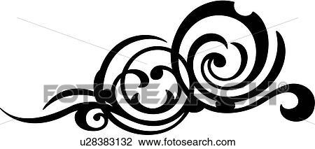 clipart of bijoux flourish ornaments scroll u28383132 search rh fotosearch com flourish clipart free download flourish clipart images