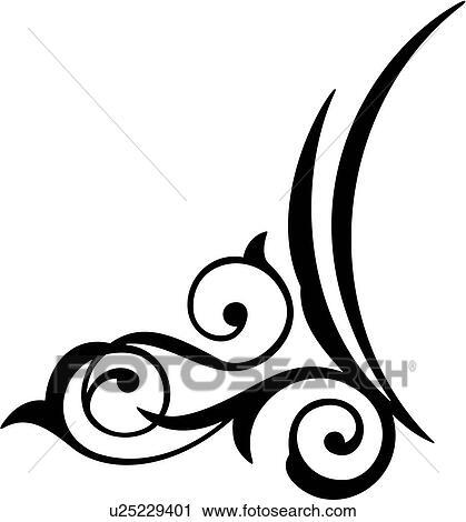 clipart bijoux schn rkel verzierungen scroll u25229401 suche clip art illustration. Black Bedroom Furniture Sets. Home Design Ideas