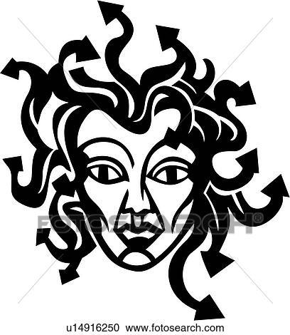 Clip Art Medusa Clipart clipart of medusa mythical roman myth mythological fotosearch