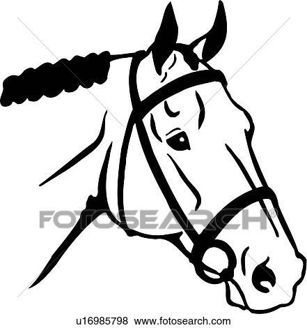 clip art of animal english horse horse head breeds u16985798 rh fotosearch com horse head clip art black and white horse head clipart png