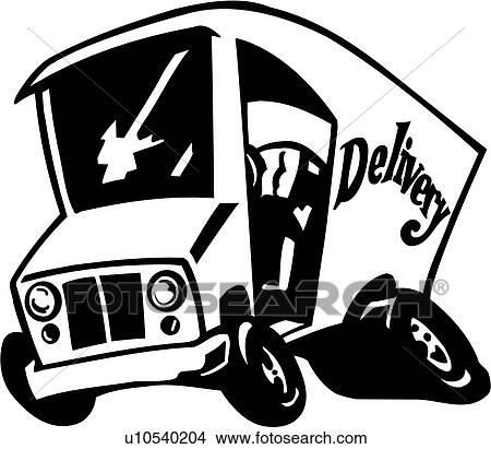 Clipart of , delivery, truck, auto, car, toon, car toon, u10540204 ...