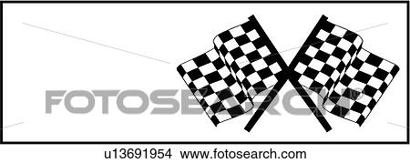 Clipart of , auto, auto racing graphic, checker, checkered flag ...