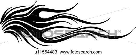 Clipart of , flames, tattoo, tribal, vehicle graphics, u11564483 ...
