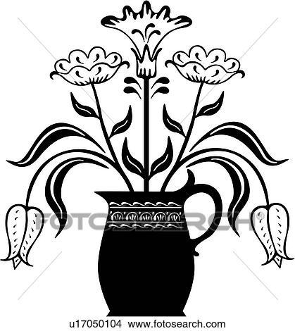 Clip Art of , amish, bird, dutch, folk art, ornaments ...