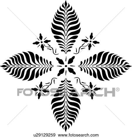 Clip Art of , amish, dutch, floral, folk art, holland, netherlands ...