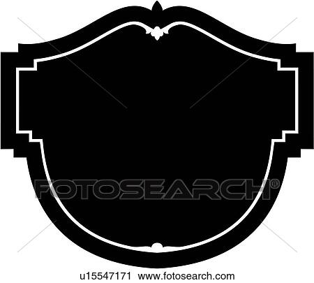 Clipart of , sign, fancy, frame, blank, border, dome ...