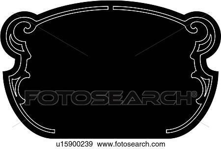 Clip Art of , blank, border, fancy, rectangle, frame, sign ...