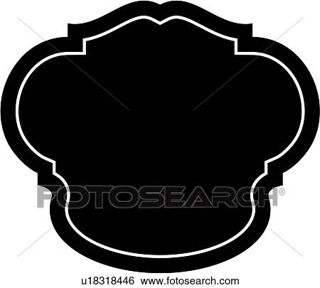 Clip Art of , sign, fancy, dome, blank, border, frame ...