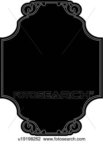 Clipart of , blank, border, fancy, frame, rectangle, sign ...