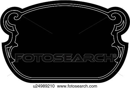 Clipart of , blank, border, fancy, frame, dome, sign ...