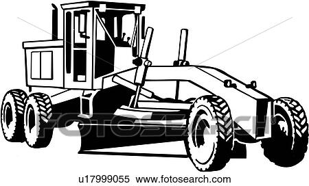 Clipart trade construction grader heavy equipment fotosearch