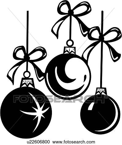 Clipart Of Balls Bow Christmas Holiday Xmas Ornaments
