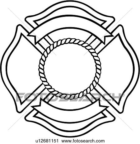 Clipart of , chief, cross, crosses, department, emergency ...