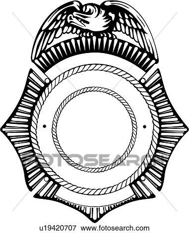 Clipart of , badge, cop, department, deputy, emergency, emergency ...