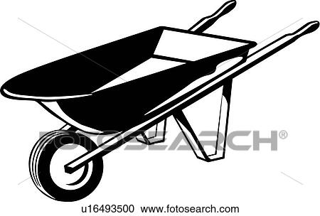 Clipart of , tool, wheelbarrow, u16493500 - Search Clip Art ...