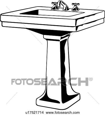Clipart of , bath room, fixture, sink, u17521714 - Search Clip Art ...