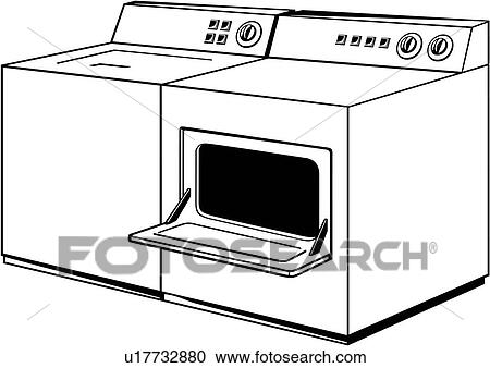 Washer And Dryer Clipart clipart of , appliance, dryer, washer, u17732880 - search clip art