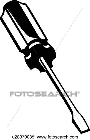 Clipart of , flathead, screwdriver, tool, u28379035 ...