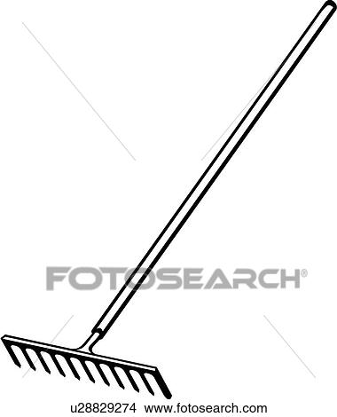 Clipart of , rake, tool, u28829274 - Search Clip Art, Illustration ...