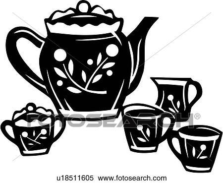 раскраска чайного сервиза для детей
