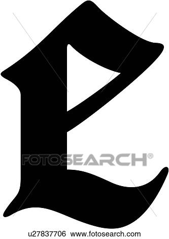 Clip art of alphabet old english e letter lettered lowercase alphabet old english e letter lettered lowercase thecheapjerseys Image collections