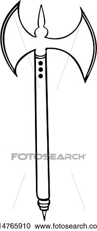 Clipart of , armor, axe, medieval, weapon, weapons ...