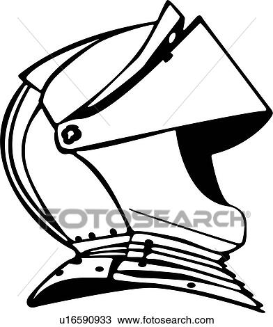 Clipart of , armor, helmet, medieval, knight, weapons ...