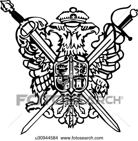 Clipart of , armor, crest, medieval, shield, sword ...