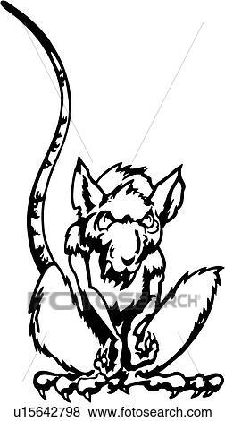 Clip art animale zanna ratto roditore varmint - Animale cartone animato immagini gratis ...