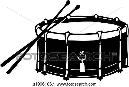 Clip Art Of Drum Instrument Music Musical Snare U19961867