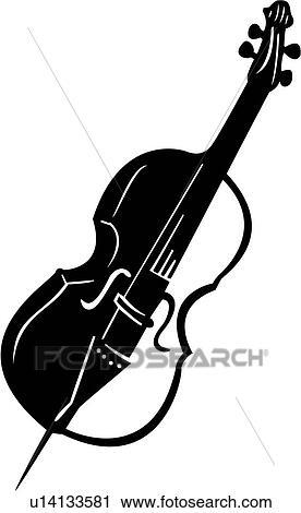 Clip Art Cello Clip Art clipart of cello instrument music musical u14133581 search fotosearch clip