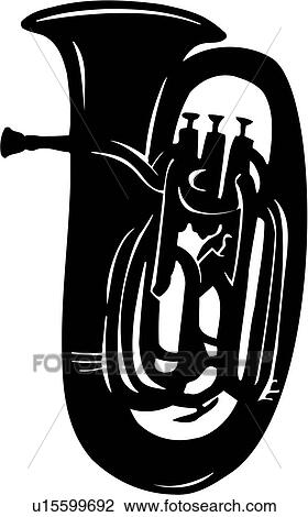 Clipart of , instrument, music, musical, tuba, u15599692 - Search ...