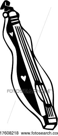 Clip Art of , dulcimer, instrument, musical, u17608218 ...