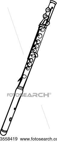 Clip Art of , flute, instrument, music, musical, u23558419 ...