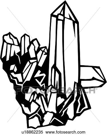 Clipart - cristal, quartz, mer, environmental, u18862235 ...